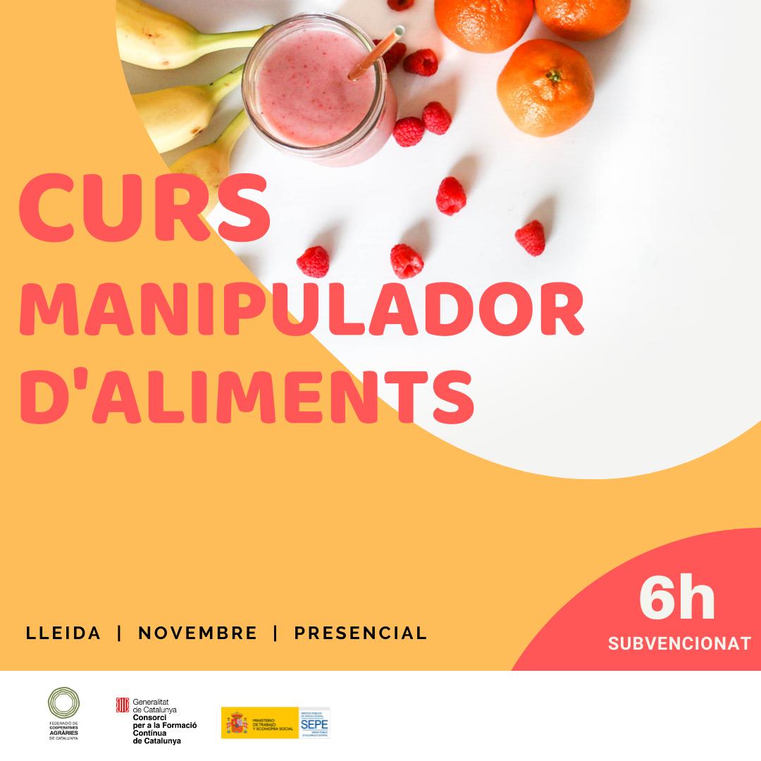 Curs MANIPULACIÓ D'ALIMENTS